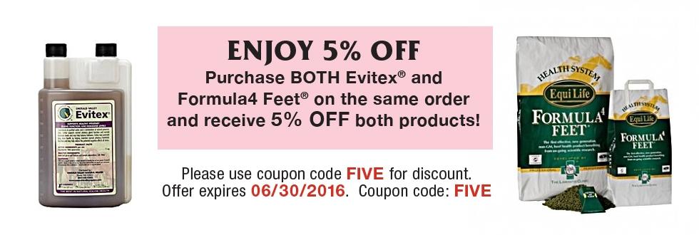 5% Evitex & Formula 4 Feet